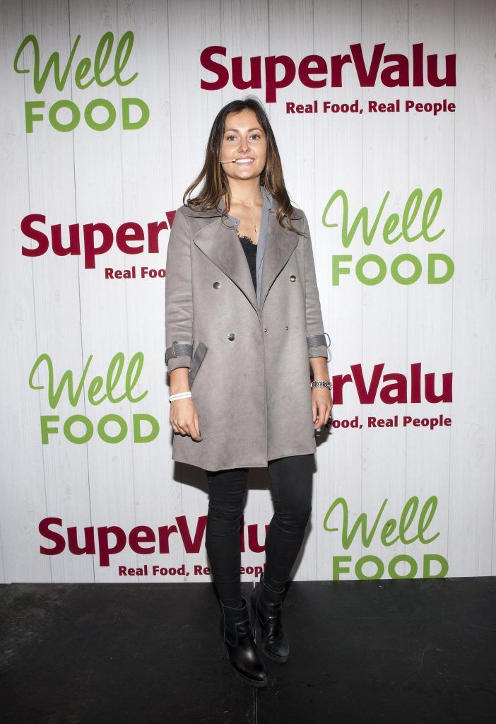 Lucy Bee pictured at SuperValu's WellFood zone where she was showcasing her culinary skills at WellFest in Dublin's Herbert Park. Pic by Patrick O'Leary