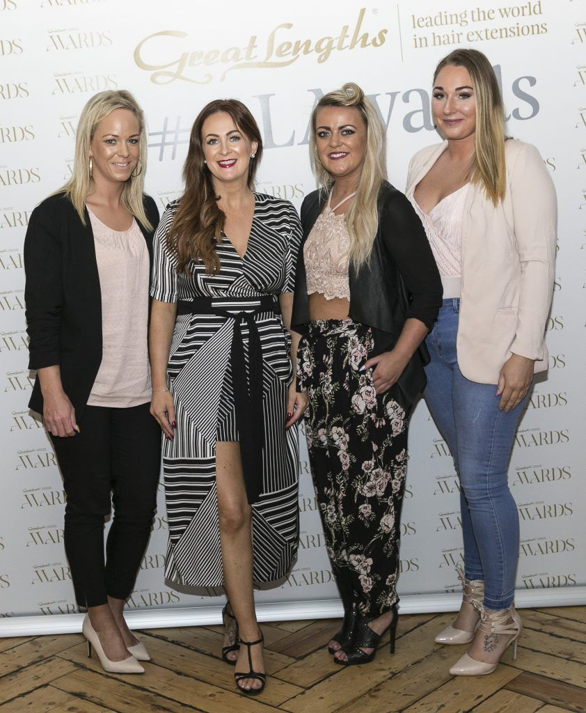 Catwalk Hair and Beauty Lyndsey Kavanagh, Neisha Ahern, Leanne McMahon, Barbara Campion at the Great Lengths Awards 2017, held in Fade Street Social, Dublin. May 2017. Photographer - Paul Sherwood