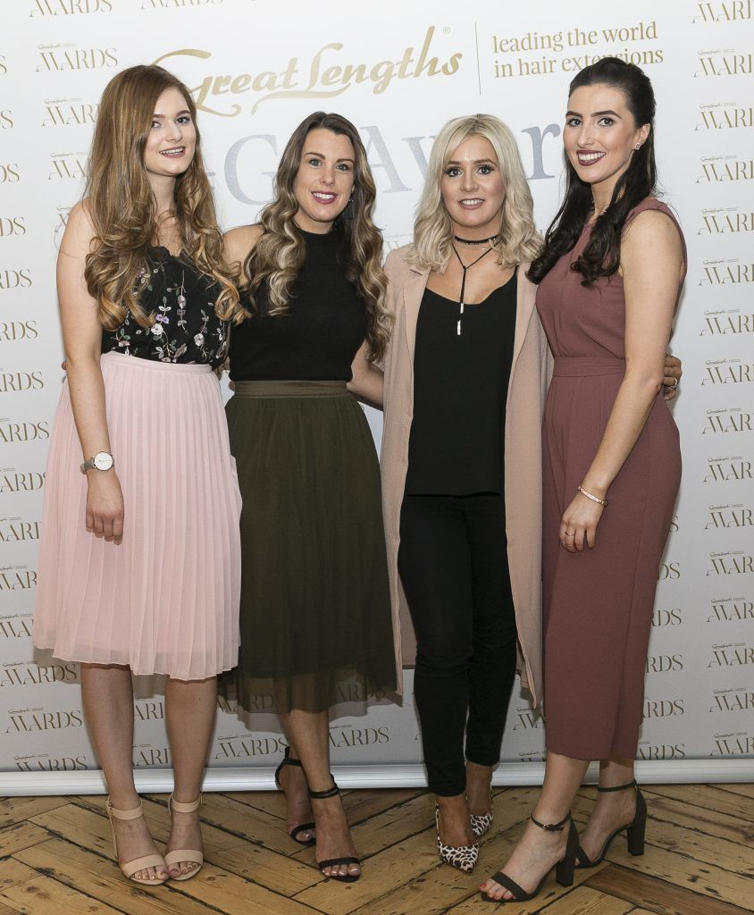 Willow Hair Boutique Orlaith Daly, Louise Welsh, Sarah Swift, Niamh Kennedy at the Great Lengths Awards 2017, held in Fade Street Social, Dublin. May 2017. Photographer - Paul Sherwood