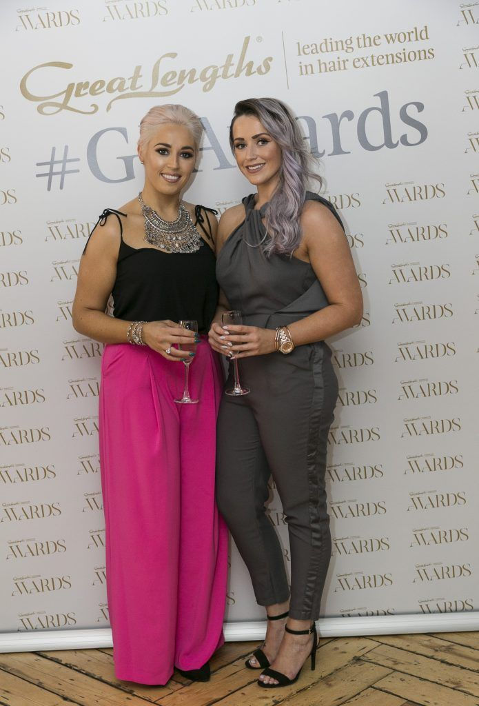 Biba Norah Hurley, Laura O'Malley at the Great Lengths Awards 2017, held in Fade Street Social, Dublin. May 2017. Photographer - Paul Sherwood
