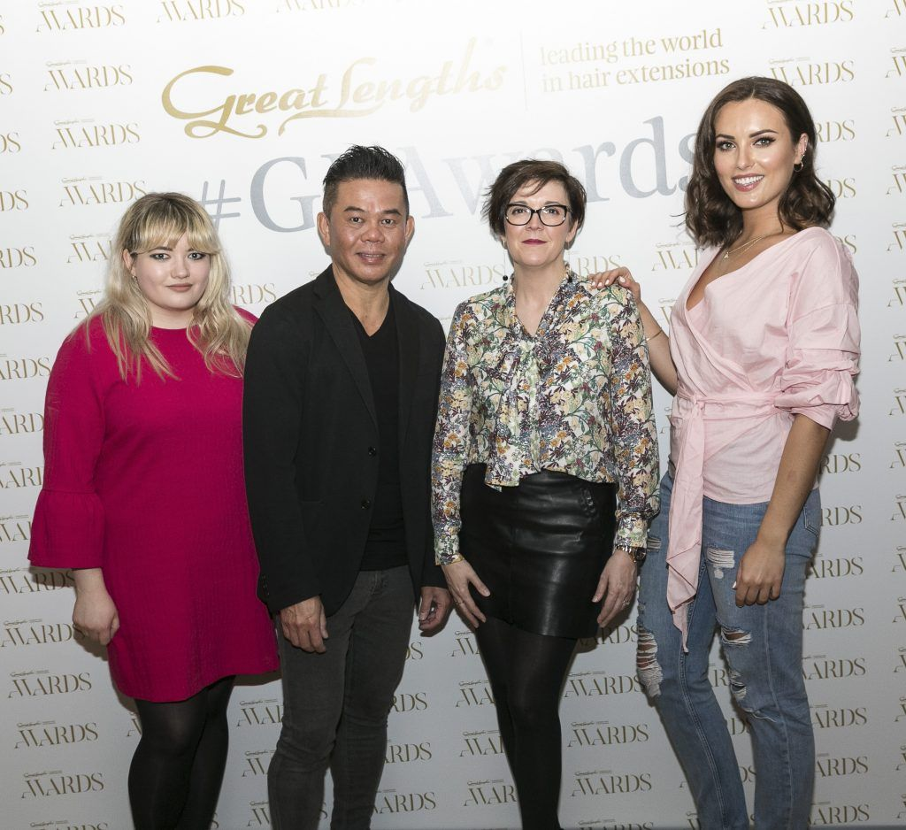 Judges - Anna Samson, Michael Leong, Tara Corristine, Holly Carpenter at the Great Lengths Awards 2017, held in Fade Street Social, Dublin. May 2017. Photographer - Paul Sherwood