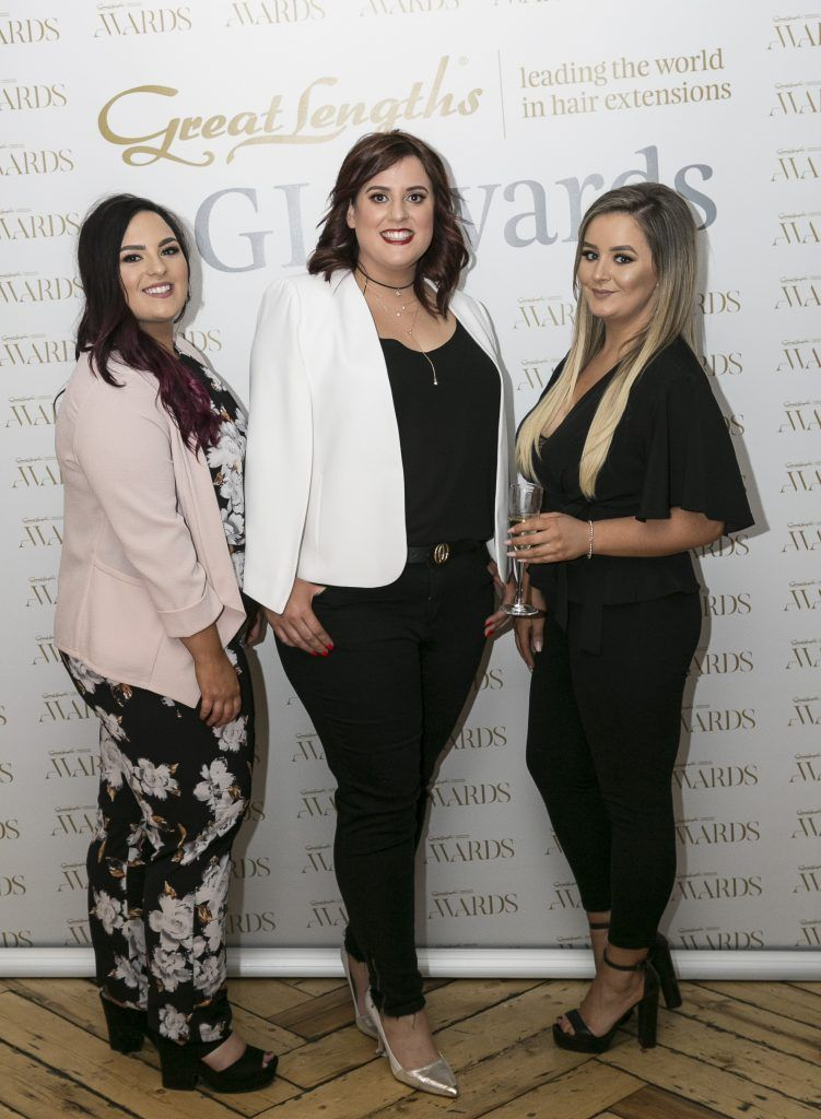 Halo Roisin Loonam, Elaine Wynne, Shannon McGuinness at the Great Lengths Awards 2017, held in Fade Street Social, Dublin. May 2017. Photographer - Paul Sherwood