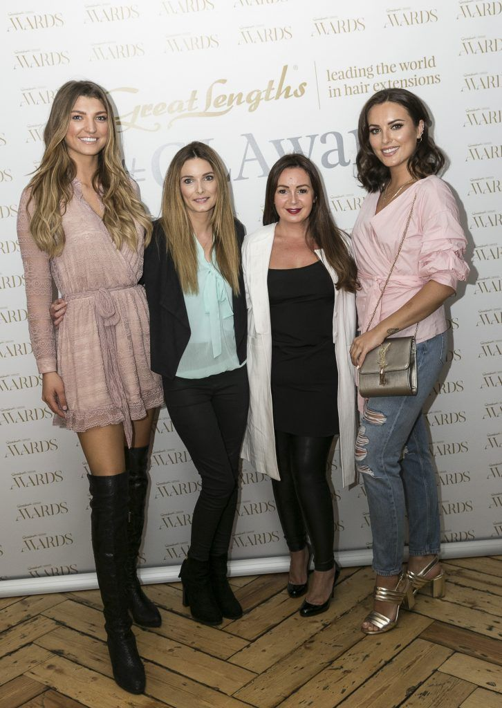 Alannah Beirne, Lisa Russell, Ceira Lambert, Holly Carpenter at the Great Lengths Awards 2017, held in Fade Street Social, Dublin. May 2017. Photographer - Paul Sherwood