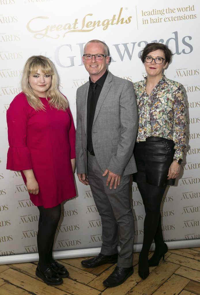 Anna Samson, Chris King, Tara Corristine at the Great Lengths Awards 2017, held in Fade Street Social, Dublin. May 2017. Photographer - Paul Sherwood