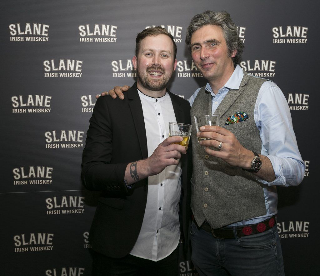 Free repro - Photo - Paul Sherwood Launch of Slane Whiskey at the East Side Tavern, Leeson Street, Dublin. May 2017. Official launch of Slane Irish Whiskey – a new to market premium Irish Whiskey brand, which will be distilled on the grounds of Slane Castle, Co. Meath Pictured - Will Lynch - Brand Ambassador, Alex Conyngham