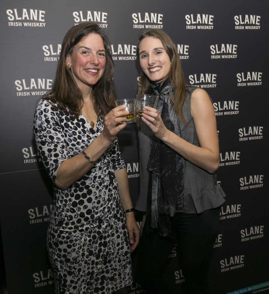 Free repro - Photo - Paul Sherwood Launch of Slane Whiskey at the East Side Tavern, Leeson Street, Dublin. May 2017. Official launch of Slane Irish Whiskey – a new to market premium Irish Whiskey brand, which will be distilled on the grounds of Slane Castle, Co. Meath Pictured - Carina Conyngham, Tamara Conyngham
