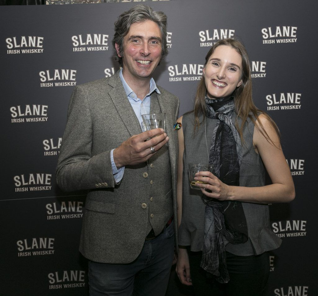Free repro - Photo - Paul Sherwood Launch of Slane Whiskey at the East Side Tavern, Leeson Street, Dublin. May 2017. Official launch of Slane Irish Whiskey – a new to market premium Irish Whiskey brand, which will be distilled on the grounds of Slane Castle, Co. Meath Pictured - Alex Conyngham, Tamara Conyngham