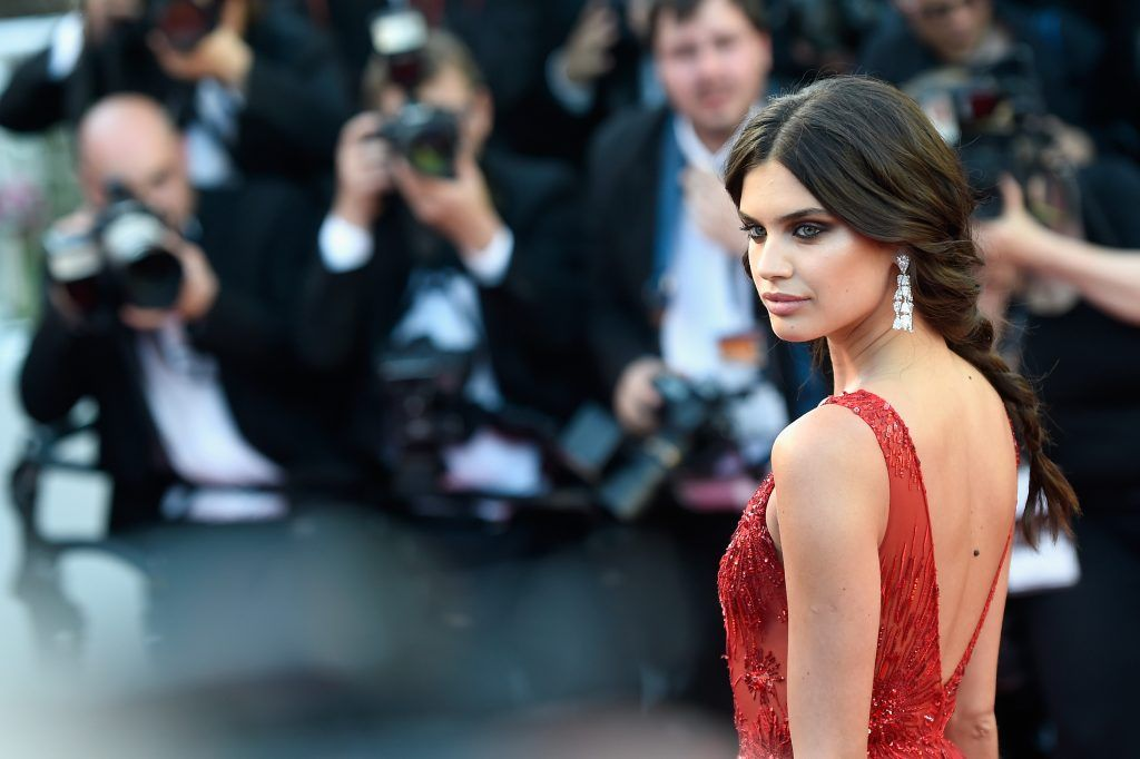 "Sara Sampaio attends the ""Ismael's Ghosts (Les Fantomes d'Ismael)"" screening and Opening Gala during the 70th annual Cannes Film Festival at Palais des Festivals on May 17, 2017 in Cannes, France.  (Photo by Antony Jones/Getty Images)"
