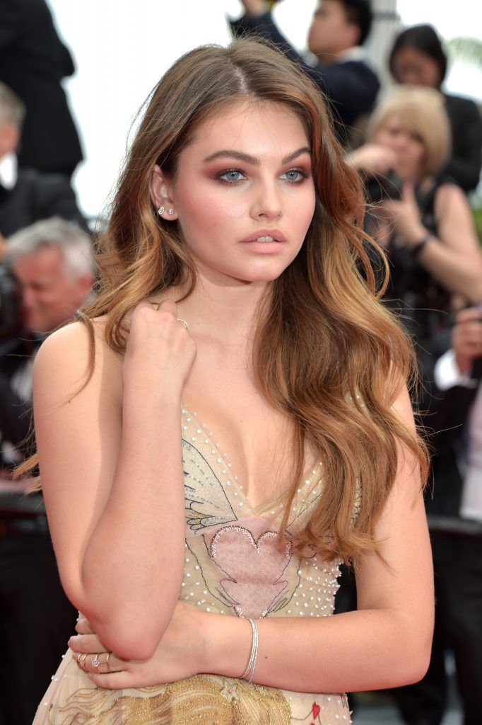 """Thylane Blondeau attends the """"Loveless (Nelyubov)"""" screening during the 70th annual Cannes Film Festival at Palais des Festivals on May 18, 2017 in Cannes, France.  (Photo by Pascal Le Segretain/Getty Images)"""