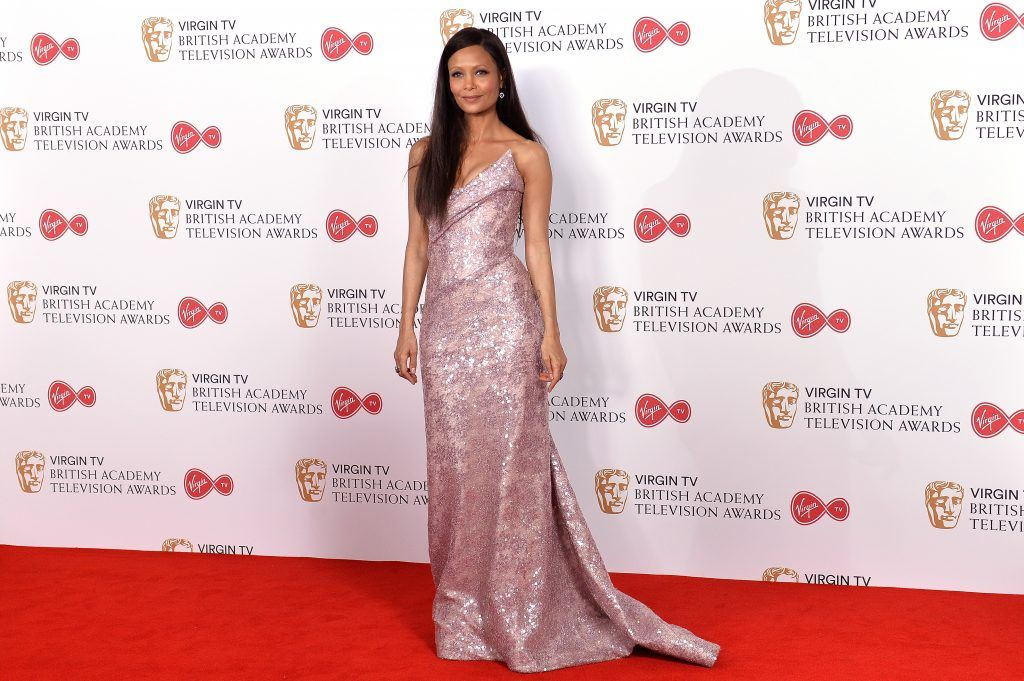 Thandie Newton poses in the Winner's room at the Virgin TV BAFTA Television Awards at The Royal Festival Hall on May 14, 2017 in London, England.  (Photo by Jeff Spicer/Getty Images)