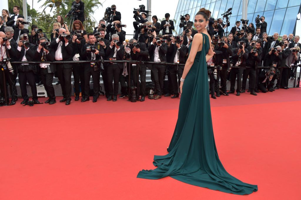 """Deepika Padukone attends the """"Loveless (Nelyubov)"""" screening during the 70th annual Cannes Film Festival at Palais des Festivals on May 18, 2017 in Cannes, France.  (Photo by Pascal Le Segretain/Getty Images)"""