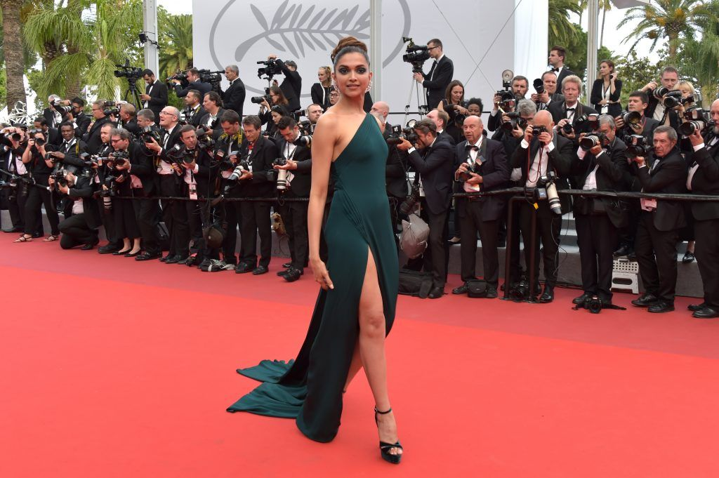 "Deepika Padukone attends the ""Loveless (Nelyubov)"" screening during the 70th annual Cannes Film Festival at Palais des Festivals on May 18, 2017 in Cannes, France.  (Photo by Pascal Le Segretain/Getty Images)"