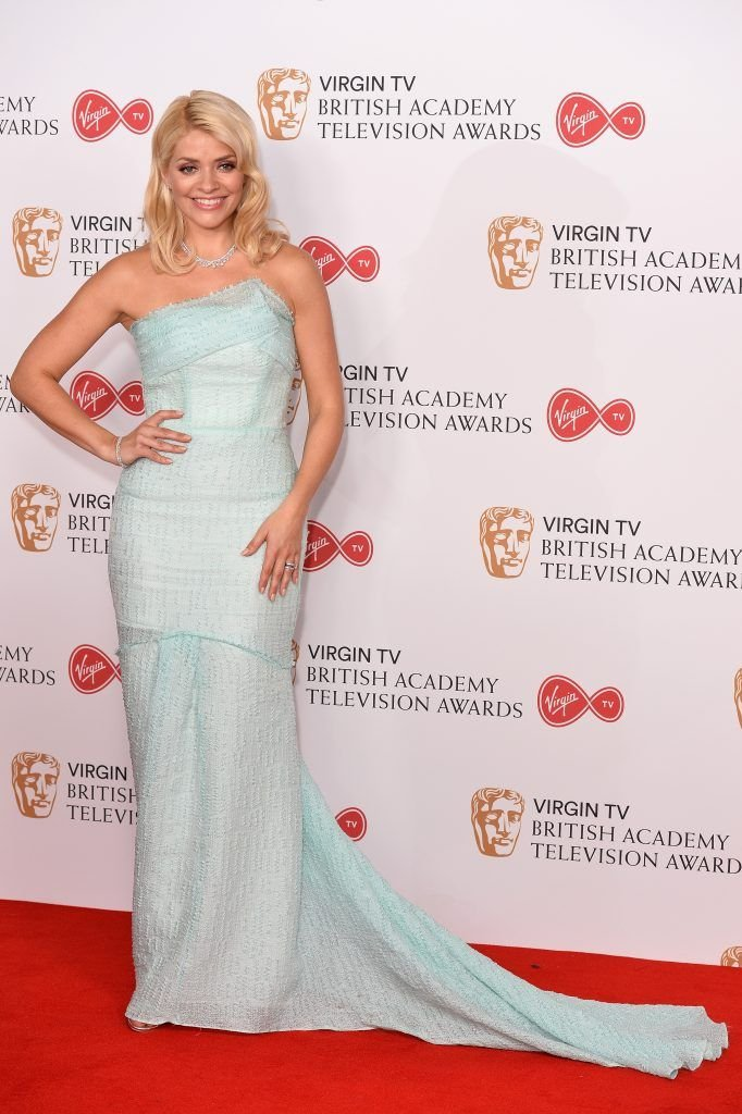 Holly Willoughby poses in the Winner's room at the Virgin TV BAFTA Television Awards at The Royal Festival Hall on May 14, 2017 in London, England.  (Photo by Jeff Spicer/Getty Images)