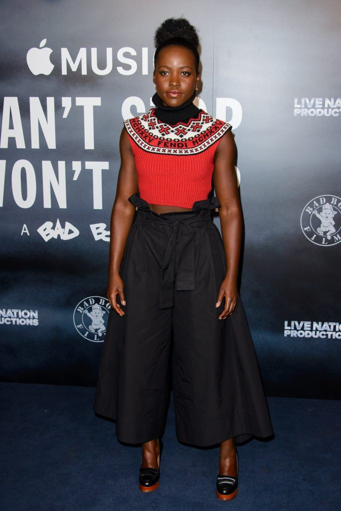 """Lupita Nyong'o attends the London Screening of """"Can't Stop, Won't Stop: A Bad Boy Story"""" at The Curzon Mayfair on May 16, 2017 in London, England. (Photo by Joe Maher/Getty Images)"""