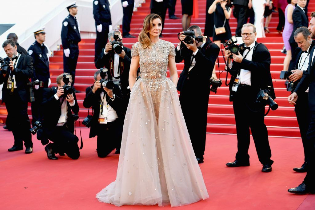 """Clotilde Courau attends the """"Ismael's Ghosts (Les Fantomes d'Ismael)"""" screening and Opening Gala during the 70th annual Cannes Film Festival at Palais des Festivals on May 17, 2017 in Cannes, France.  (Photo by Pascal Le Segretain/Getty Images)"""