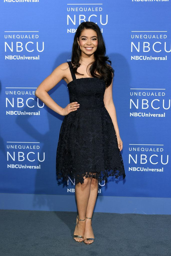 Auli'i Cravalho attends the 2017 NBCUniversal Upfront at Radio City Music Hall on May 15, 2017 in New York City.  (Photo by Dia Dipasupil/Getty Images)