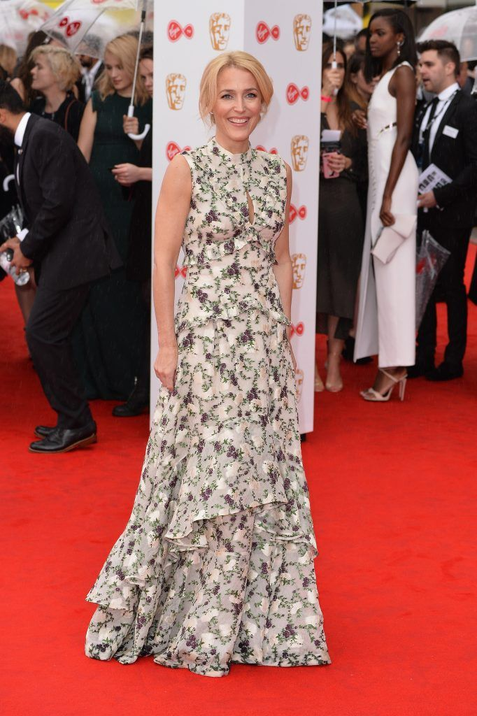 Gillian Anderson attends the Virgin TV BAFTA Television Awards at The Royal Festival Hall on May 14, 2017 in London, England.  (Photo by Jeff Spicer/Getty Images)