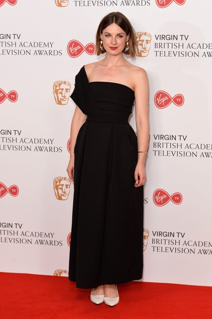Jessica Raine poses in the Winner's room at the Virgin TV BAFTA Television Awards at The Royal Festival Hall on May 14, 2017 in London, England.  (Photo by Jeff Spicer/Getty Images)