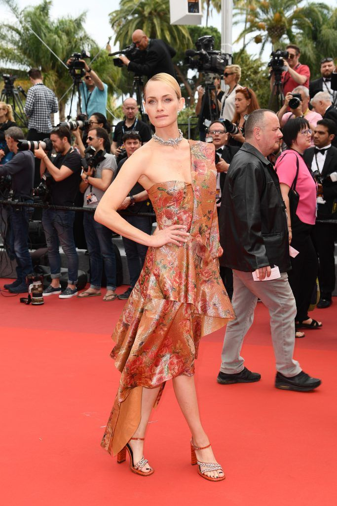 """Amber Valletta attends the """"Wonderstruck"""" screening during the 70th annual Cannes Film Festival at Palais des Festivals on May 18, 2017 in Cannes, France.  (Photo by Matthias Nareyek/Getty Images)"""