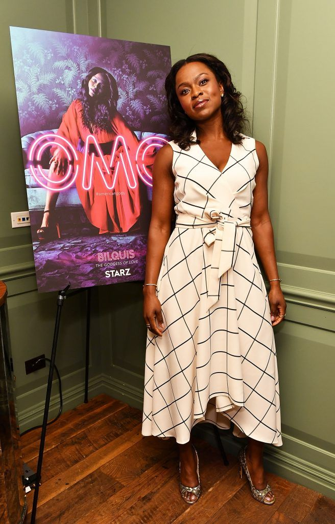 """Actress Yetide Badaki attends """"American Gods"""" Junket + Mixer at Soho House on May 18, 2017 in New York City.  (Photo by Slaven Vlasic/Getty Images for Starz)"""