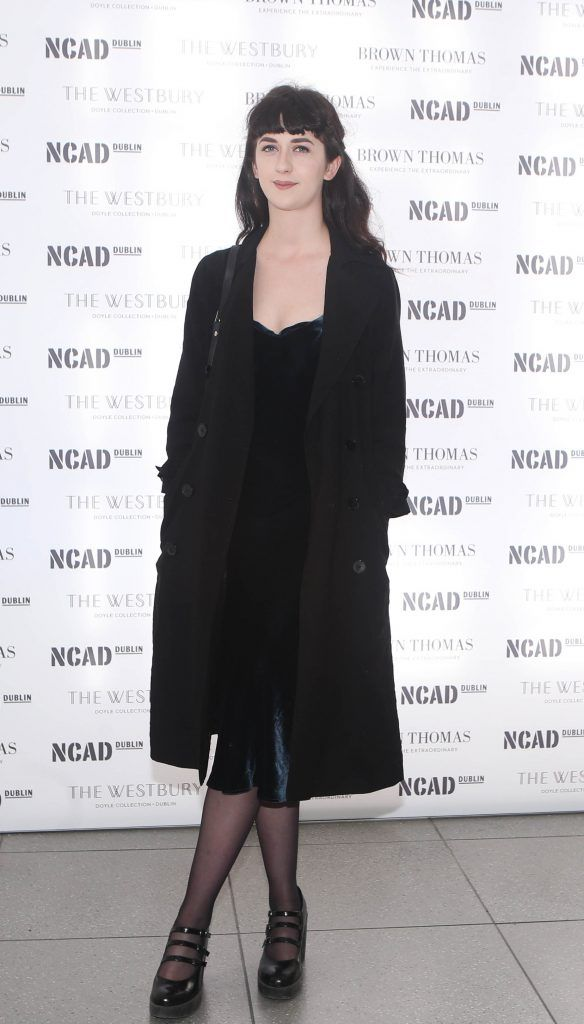 Rebecca O Dwyer  pictured at the National College of Arts and Design (NCAD)'s annual fashion show. Photo: Leon Farrell/Photocall Ireland