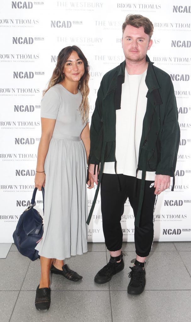 Pictured at the National College of Arts and Design (NCAD)'s annual fashion show. Photo: Leon Farrell/Photocall Ireland