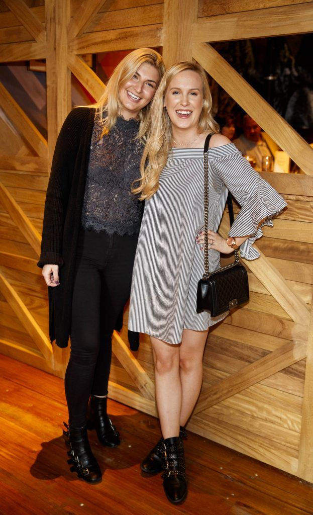 Grace Jordan and Alana Laverty pictured at an event in the D Hotel to celebrate the dual launch of their new stylish bar, The Hops and classic Italian restaurant, Il Ponte. Picture by Andres Poveda