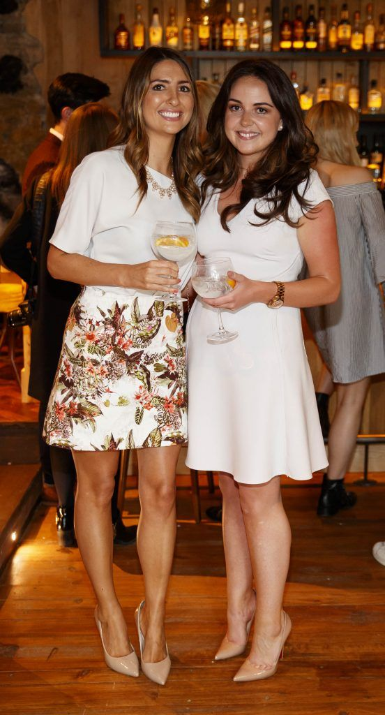 Maeve Keenan and Denise O'Grady pictured at an event in the D Hotel to celebrate the dual launch of their new stylish bar, The Hops and classic Italian restaurant, Il Ponte. Picture by Andres Poveda