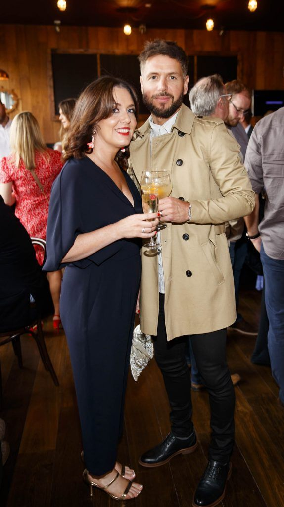 Sharon Berry and Declan O'Brien pictured at an event in the D Hotel to celebrate the dual launch of their new stylish bar, The Hops and classic Italian restaurant, Il Ponte. Picture by Andres Poveda