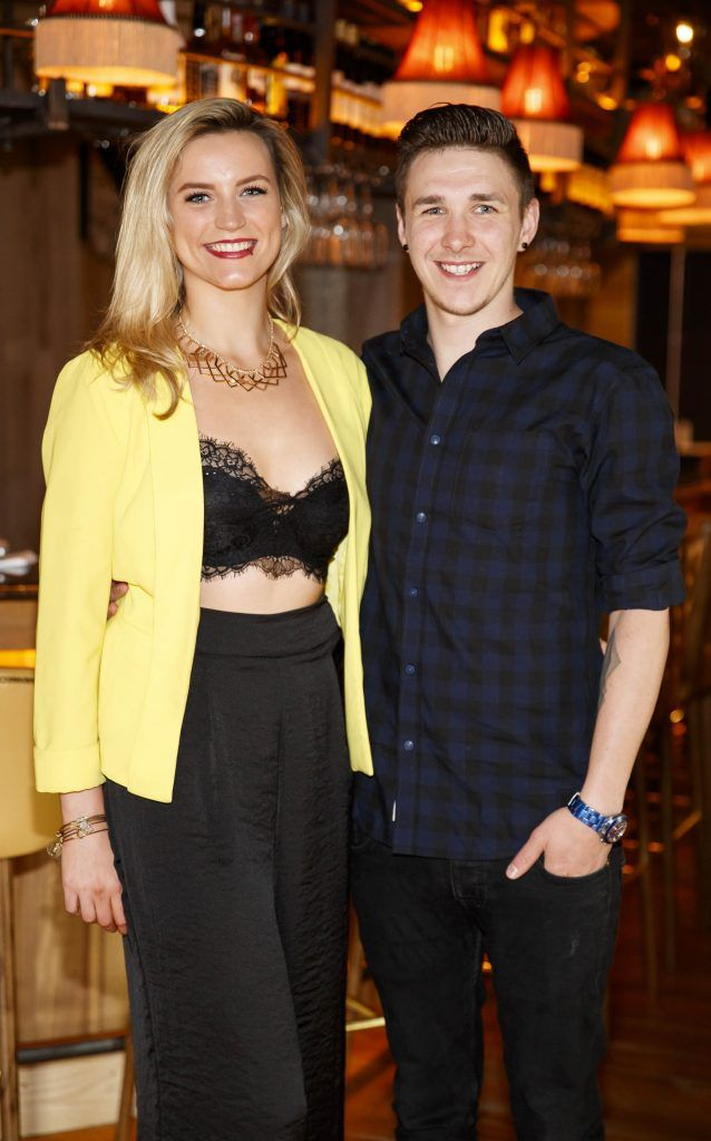 Grainne Devenney and Mathew Prouse pictured at an event in the D Hotel to celebrate the dual launch of their new stylish bar, The Hops and classic Italian restaurant, Il Ponte. Picture by Andres Poveda