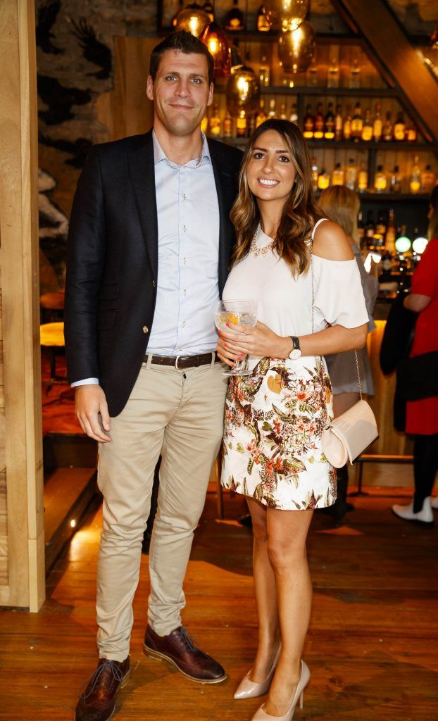 Brendan O'Brien and Maeve Keenan pictured at an event in the D Hotel to celebrate the dual launch of their new stylish bar, The Hops and classic Italian restaurant, Il Ponte. Picture by Andres Poveda