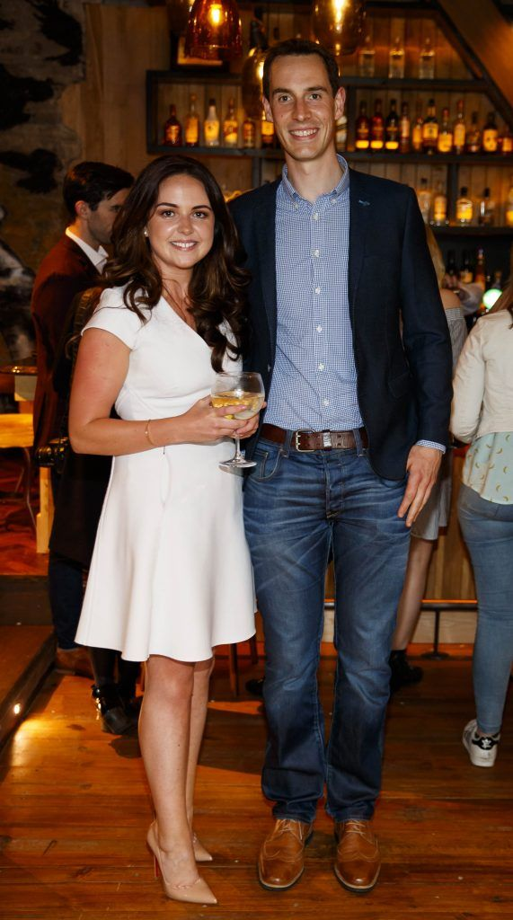 Denise O'Grady and John Peppard pictured at an event in the D Hotel to celebrate the dual launch of their new stylish bar, The Hops and classic Italian restaurant, Il Ponte. Picture by Andres Poveda