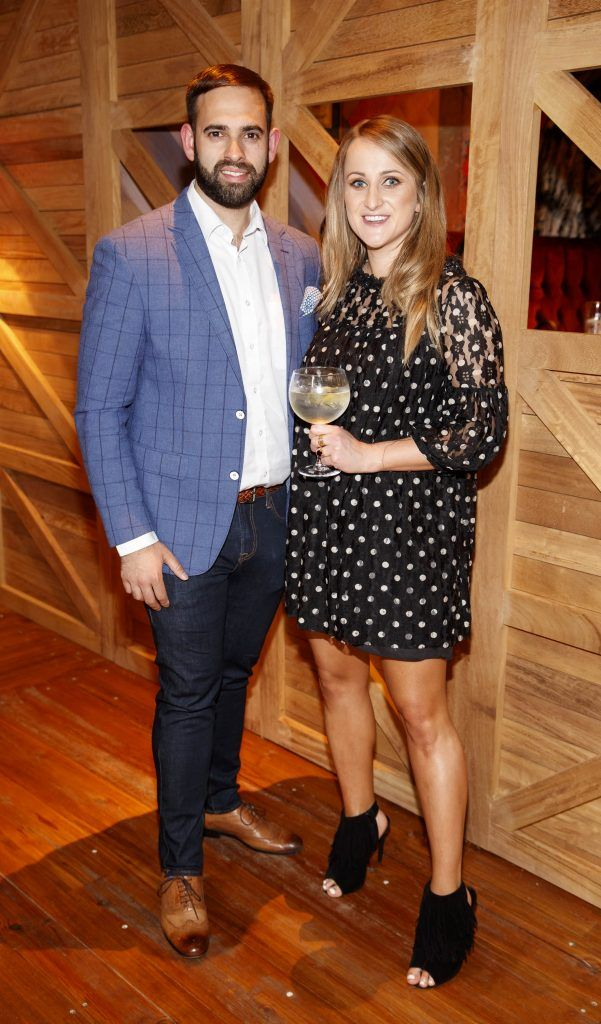 Conor O'Reilly and Justine King pictured at an event in the D Hotel to celebrate the dual launch of their new stylish bar, The Hops and classic Italian restaurant, Il Ponte. Picture by Andres Poveda