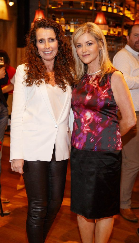 Cathy O'Neill and Deirdre Power pictured at an event in the D Hotel to celebrate the dual launch of their new stylish bar, The Hops and classic Italian restaurant, Il Ponte. Picture by Andres Poveda