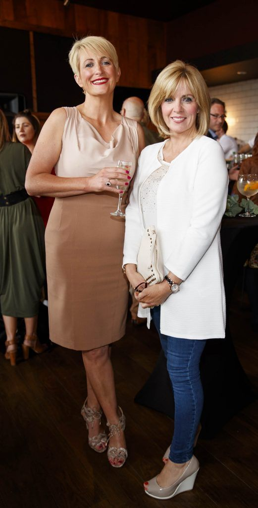 Michelle Kinsella and Lisa Prendergast pictured at an event in the D Hotel to celebrate the dual launch of their new stylish bar, The Hops and classic Italian restaurant, Il Ponte. Picture by Andres Poveda