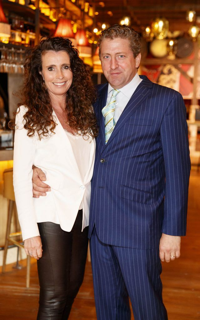 Cathy O'Neill and Ciaran O'Donovan General Manager D Hotel pictured at an event in the D Hotel to celebrate the dual launch of their new stylish bar, The Hops and classic Italian restaurant, Il Ponte. Picture by Andres Poveda