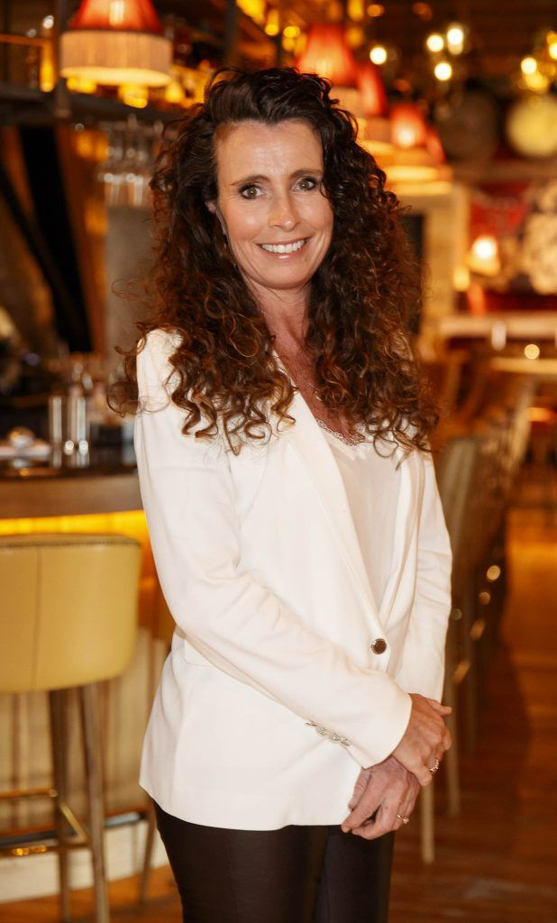 Cathy O'Neill pictured at an event in the D Hotel to celebrate the dual launch of their new stylish bar, The Hops and classic Italian restaurant, Il Ponte. Picture by Andres Poveda