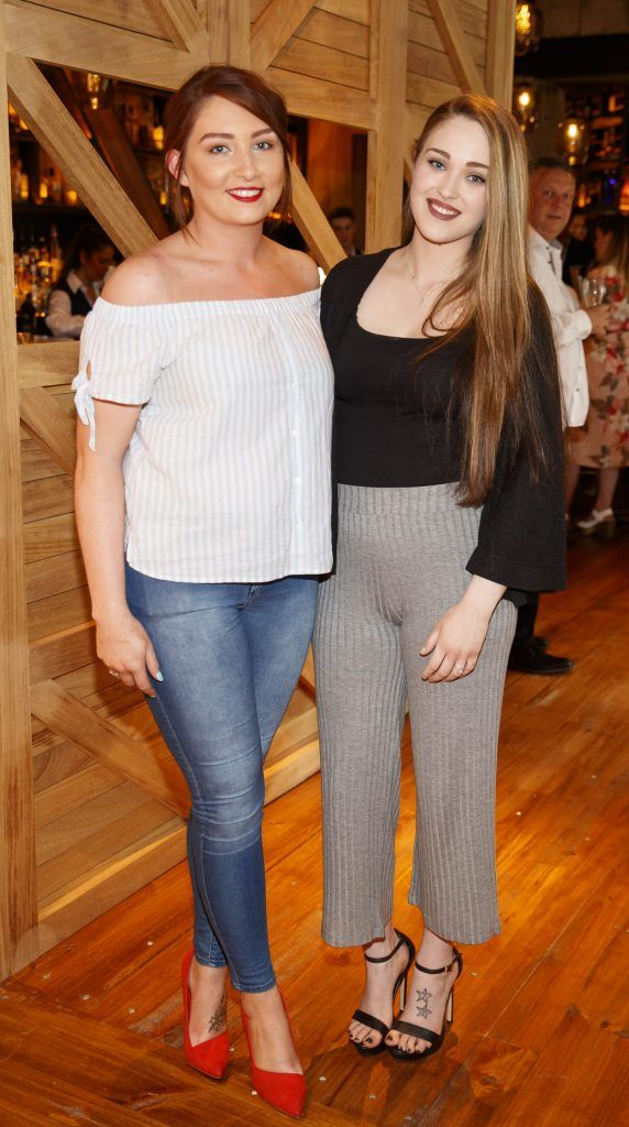 Pheobe McGrane and Hailey Bohan pictured at an event in the D Hotel to celebrate the dual launch of their new stylish bar, The Hops and classic Italian restaurant, Il Ponte. Picture by Andres Poveda