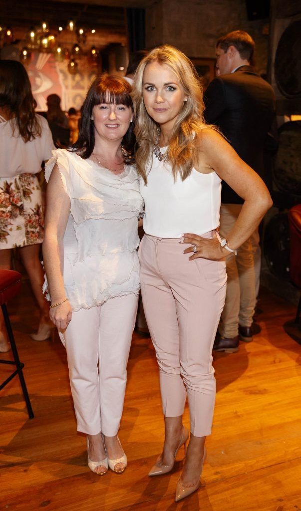 Donna Murtagh and Eileen Loughlan pictured at an event in the D Hotel to celebrate the dual launch of their new stylish bar, The Hops and classic Italian restaurant, Il Ponte. Picture by Andres Poveda