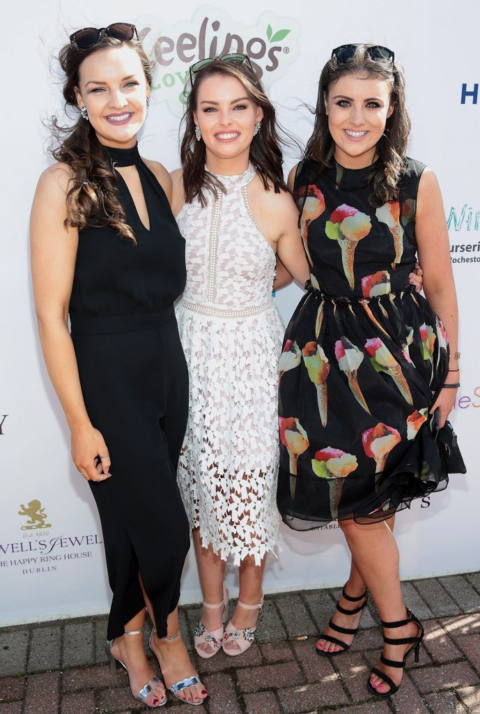 Briona O Neill, Aisling Lawlor and Hannah O Neill Fiona Fitzsimons and Darren Warren at the June Party in the Park at the Phoenix Park Polo Club to raise funds for the Irish Motor Neurone Disease Association. Picture by Brian McEvoy
