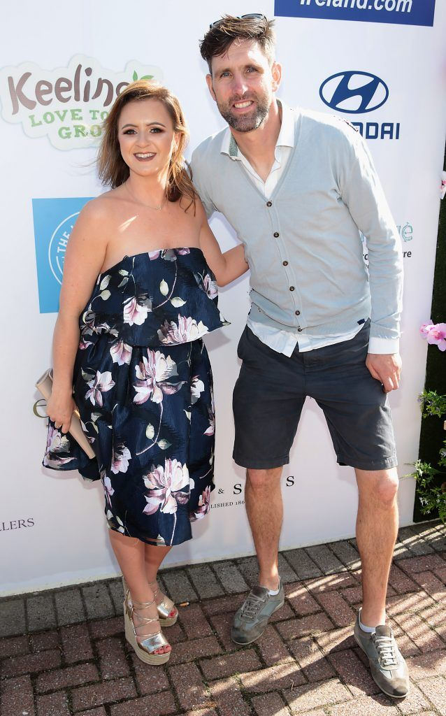 Rachel Wright and Paul Harvey Fiona Fitzsimons and Darren Warren at the June Party in the Park at the Phoenix Park Polo Club to raise funds for the Irish Motor Neurone Disease Association. Picture by Brian McEvoy