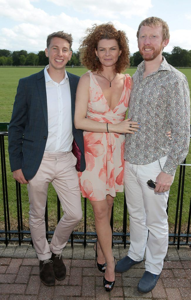 Eoin Daly, Mainara Correa and Eoin Spring Fiona Fitzsimons and Darren Warren at the June Party in the Park at the Phoenix Park Polo Club to raise funds for the Irish Motor Neurone Disease Association. Picture by Brian McEvoy
