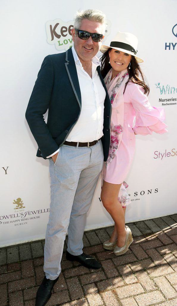 Stephen Kelly and Marie Louise Healy Fiona Fitzsimons and Darren Warren at the June Party in the Park at the Phoenix Park Polo Club to raise funds for the Irish Motor Neurone Disease Association. Picture by Brian McEvoy
