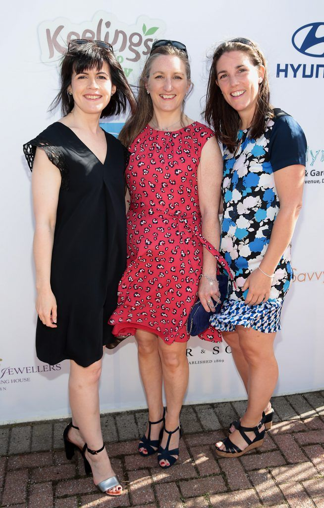 Anne Belton, Anne Maria Scanlon and Victoria Jones Fiona Fitzsimons and Darren Warren at the June Party in the Park at the Phoenix Park Polo Club to raise funds for the Irish Motor Neurone Disease Association. Picture by Brian McEvoy