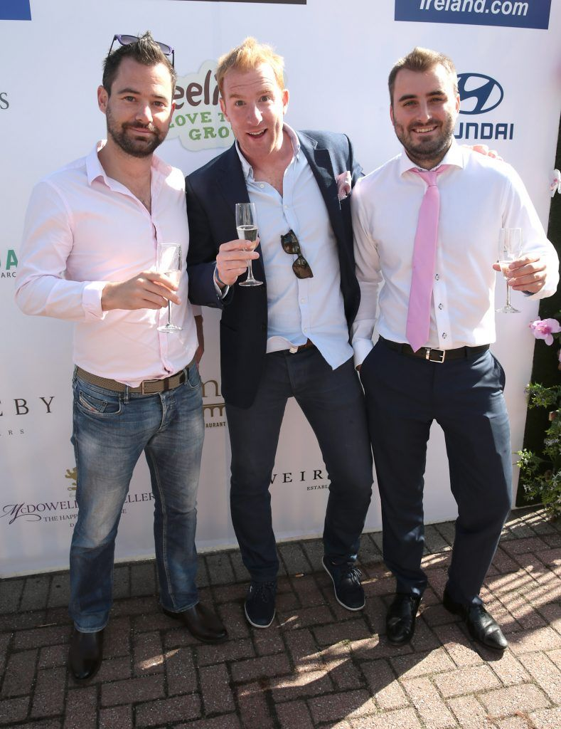 Alan Pearson Matthews, Eugene Smith and Gavin O Brien Fiona Fitzsimons and Darren Warren at the June Party in the Park at the Phoenix Park Polo Club to raise funds for the Irish Motor Neurone Disease Association. Picture by Brian McEvoy