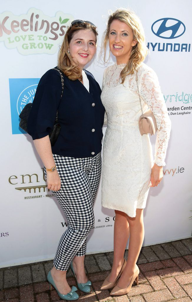 Katie Kennedy and Jessica O Mahony  Fiona Fitzsimons and Darren Warren at the June Party in the Park at the Phoenix Park Polo Club to raise funds for the Irish Motor Neurone Disease Association. Picture by Brian McEvoy