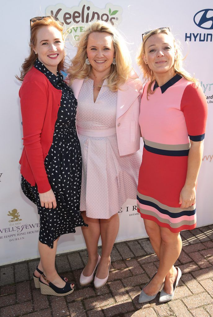 Ali Delahunty, Allison Quinn and Roisin Gowan Fiona Fitzsimons and Darren Warren at the June Party in the Park at the Phoenix Park Polo Club to raise funds for the Irish Motor Neurone Disease Association. Picture by Brian McEvoy
