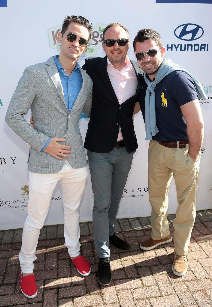 AJ Carlos, Eoin Connolly and Morgan Crowe Fiona Fitzsimons and Darren Warren at the June Party in the Park at the Phoenix Park Polo Club to raise funds for the Irish Motor Neurone Disease Association. Picture by Brian McEvoy
