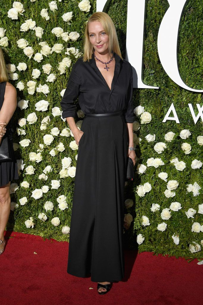 Uma Thurman attends the 2017 Tony Awards at Radio City Music Hall on June 11, 2017 in New York City.  (Photo by Dimitrios Kambouris/Getty Images for Tony Awards Productions)
