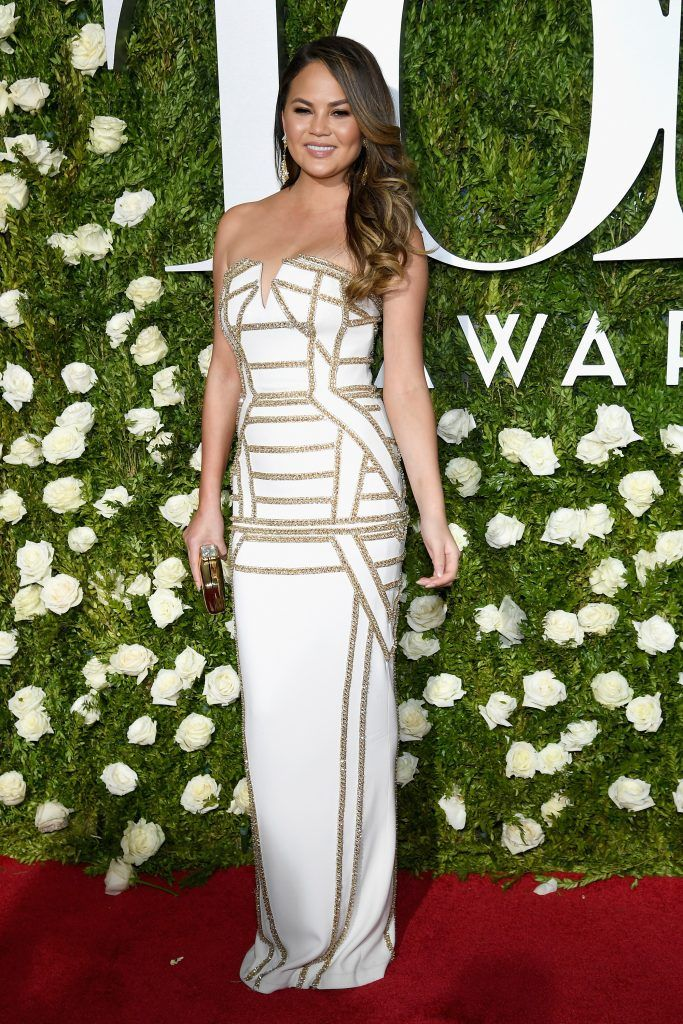 Chrissy Teigen attends the 2017 Tony Awards at Radio City Music Hall on June 11, 2017 in New York City.  (Photo by Dimitrios Kambouris/Getty Images for Tony Awards Productions)